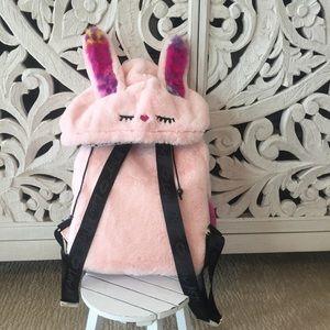 Betsey Johnson Hoodie Bunny Rabbit Backpack